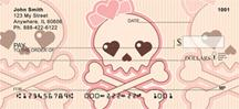Girly Skulls Personal Checks