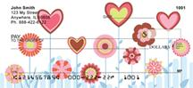 Retro Heart Flowers