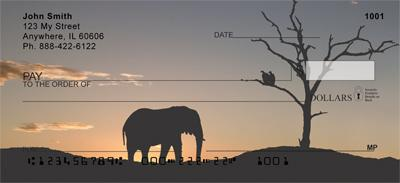 Sunset Elephants
