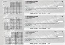 Brushed Metal Payroll Designer Business Checks