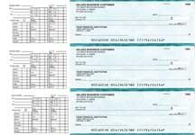 Teal Marble Payroll Business Checks