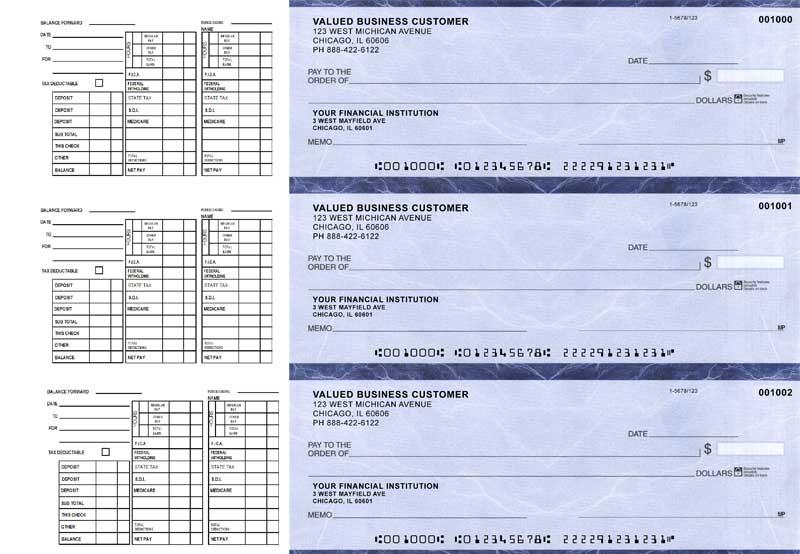 Blue Marble Payroll Business Checks Checks