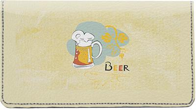 Beer Menu Leather Checkbook Cover