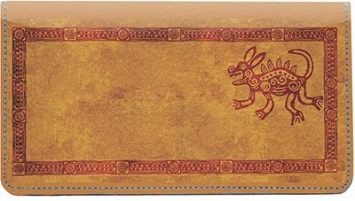 Native American Artwork Leather Checkbook Cover