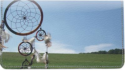 Dreamcatchers Leather Checkbook Cover