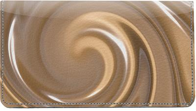 Chocolate Swirl Leather Checkbook Cover