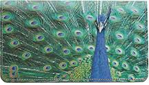 Peacocks Leather Checkbook Cover