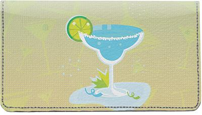 Margarita Time Leather Checkbook Cover