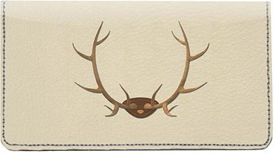 Hunting Trophies Leather Checkbook Cover