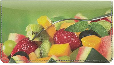 Fruit Salad Leather Checkbook Cover