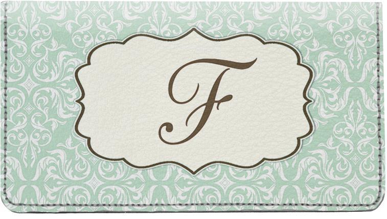 vintage monogram f checks  vintage monogram f personal checks