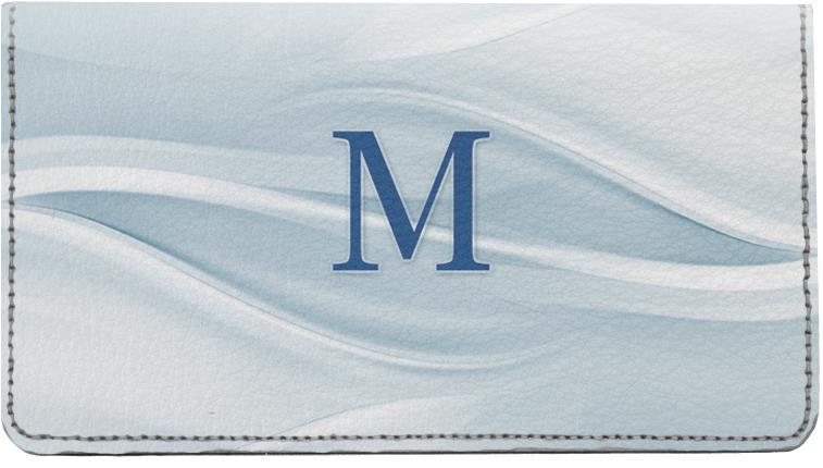 simple monogram m checks  simple monogram m personal checks