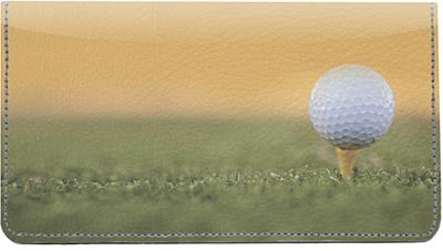 Golf Leather Checkbook Cover