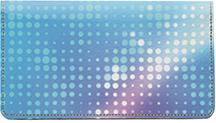 Abstract Dots Leather Checkbook Cover