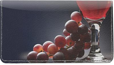 Red Wine Leather Checkbook Cover