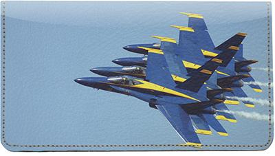Blue Angels Leather Checkbook Cover