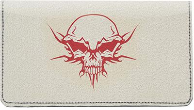 Skullmania Leather Checkbook Cover