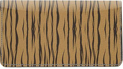 Tiger Stripes Leather Checkbook Cover