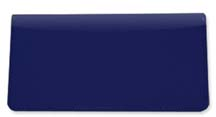 Royal Blue Smooth Leather Checkbook Cover