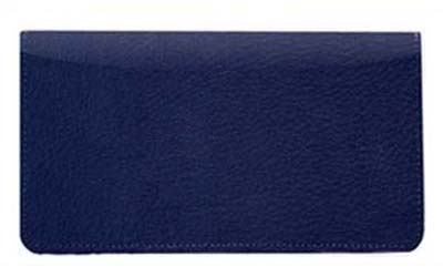 Royal Blue Leather Checkbook Cover