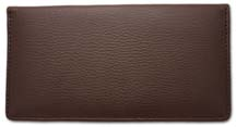 Brown Side Tear Leather Checkbook Cover