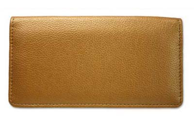 Gold Leather Checkbook Cover