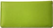Lime Green Smooth Leather Checkbook Cover