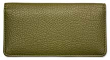 Moss Green Smooth Leather Checkbook Cover