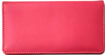 Hot Pink Smooth Leather Checkbook Cover