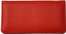 Red Smooth Leather Checkbook Cover