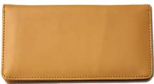 Tan Smooth Leather Checkbook Cover