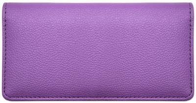 Violet Leather Checkbook Cover