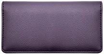 Dark Purple Textured Leather Checkbook Cover