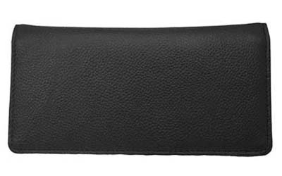 Black Leather Side Tear Checkbook Cover
