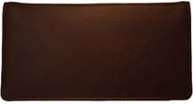 Burgundy Side Tear Leather Checkbook Cover