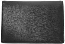Black Leather Top Stub Checkbook Cover