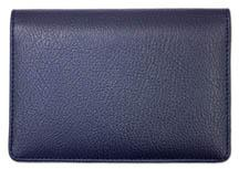 Blue Leather Top Stub Checkbook Cover