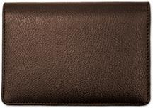 Dark Brown Leather Top Stub Checkbook Cover