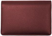 Burgundy Top Stub Leather Checkbook Cover