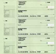 Green Safety Deskset Personal Checks