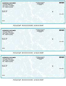 Teal Marble Laser Business 3 to a Page Voucher Checks