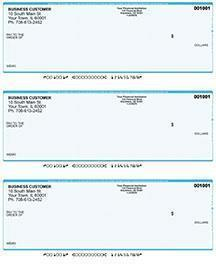 Teal Safety Laser Business 3 to a Page Voucher Checks