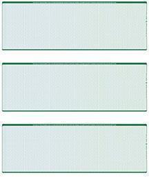 Blue Green Blank Stock For 3 to a Page Voucher Computer Checks