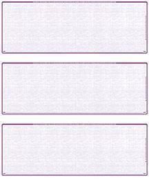 Violet Safety Blank Stock For 3 to a Page Voucher Computer Checks