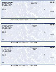Blue Marble Laser Business 3 to a Page Voucher Checks