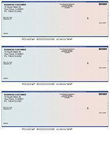 Blue Red Laser Business 3 to a Page Voucher Checks