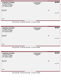 Wall Street Laser Business 3 to a Page Voucher Checks