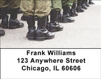 Army Boots Address Labels