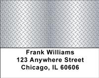 Diamond Plate Address Labels