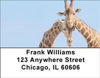 Giraffe Couples Address Labels